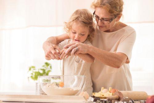 Grandparents Visitation Rights - Grandmother Cooking with Grandchild - BartonWood