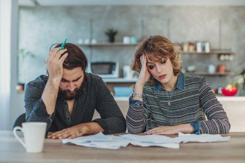 couple upset about debts