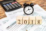 Clock and Calculator - 2018 taxes and alimony
