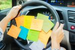 Parenting To Do List: Sticky Notes on Steering Wheel - BartonWood